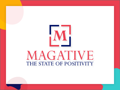 Magative magazine logo design branding logo illustration