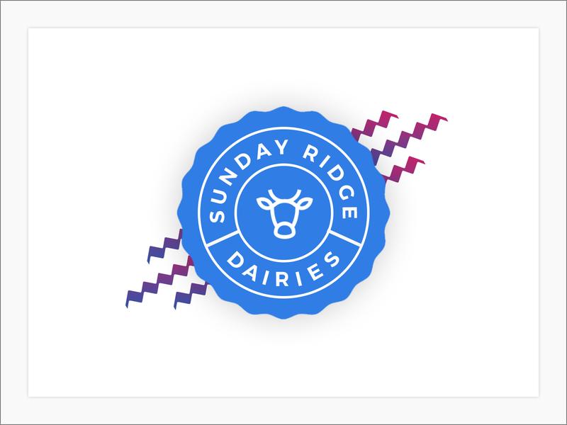 Sunday Ridge Dairies branding logo design