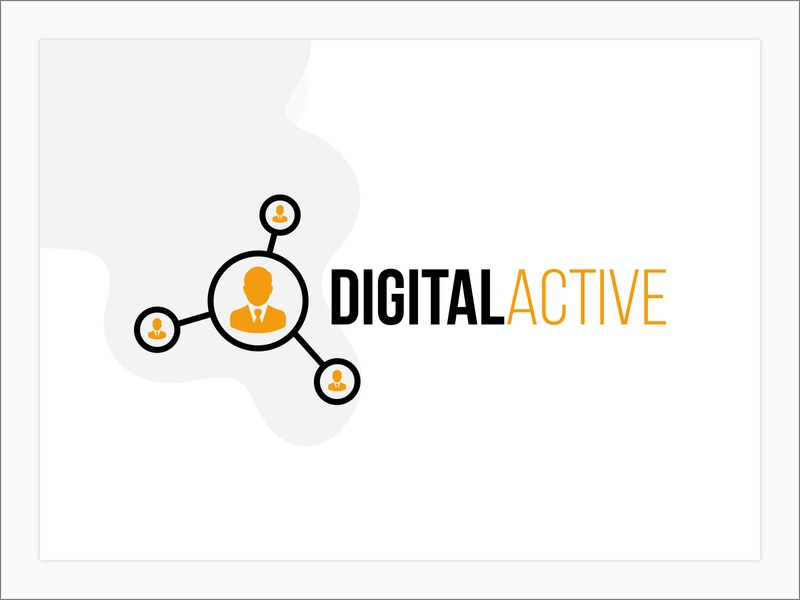 Digital Active branding logo design