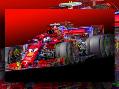 Sebastian Vettel Abstract Canvas racing racing car f1digitals f1