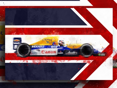 Nigel Mansell Canvas illustration helmet f1 canvas design canvas print abstract racing f1digitals racing car f1