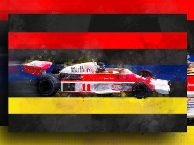 James Hunt Canvas illustration helmet f1 canvas design canvas print abstract racing f1digitals racing car f1