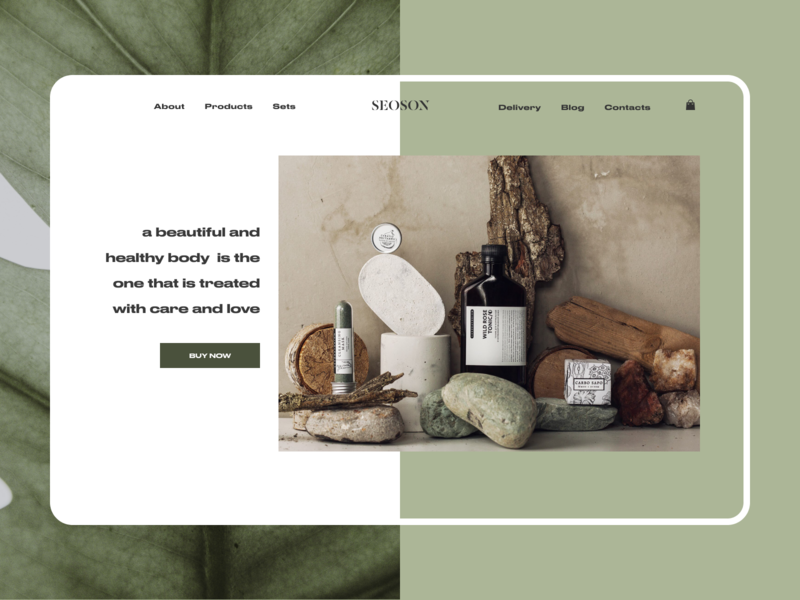 Cosmetic Home Page vegan green careful organic natural ui handmade flora nature website webdesign web ux landing homepage daily cosmetology cosmetics cosmetic beauty