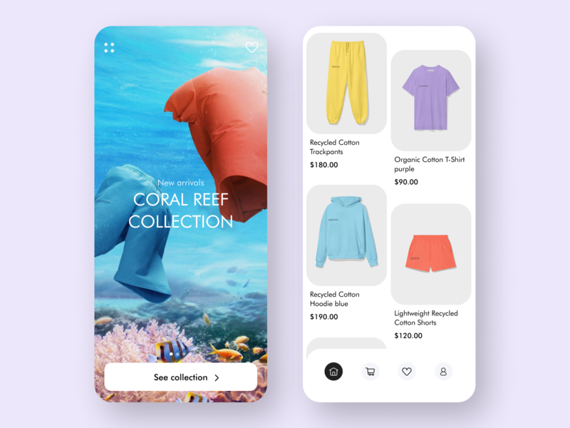 Online shop App store product listing ios interface clothing app design app shopping zara cart add to cart daily delivery ecommerce online shop minimal flat ux ui