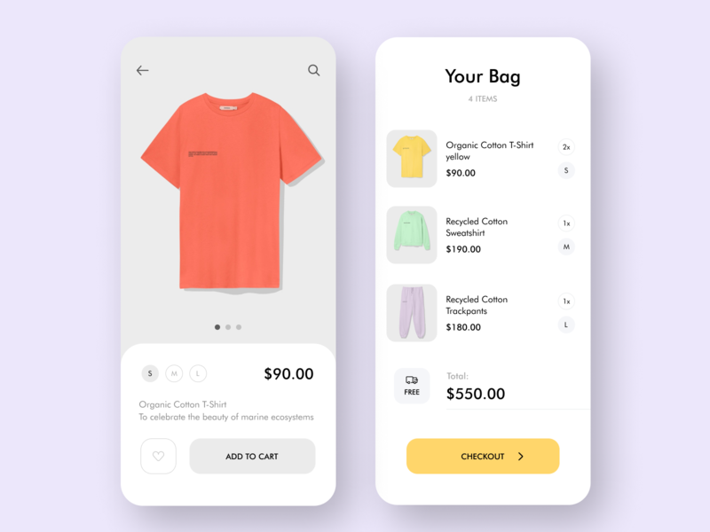 Online shop App clothes cart app design ux ui showroom search order online shop mobile design mobile mimimal iphone home page flat ecommerce digital delivery branding add to cart