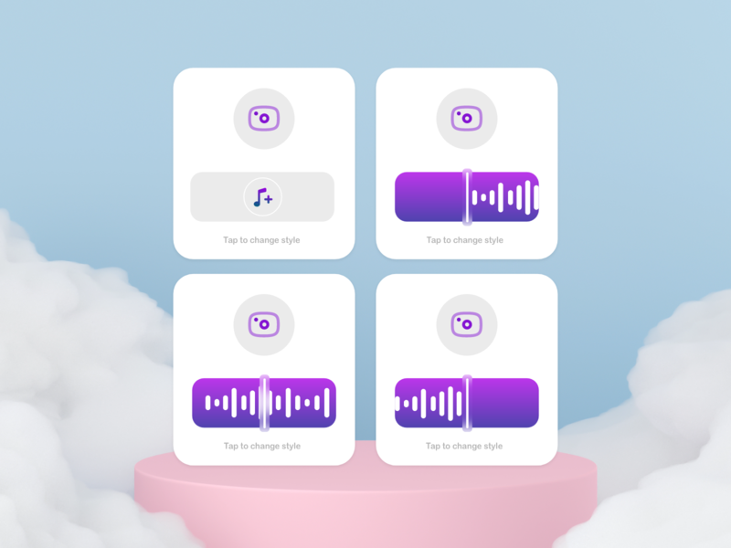 Playback cards waves player progress redesign podcast record ios app design ux ui