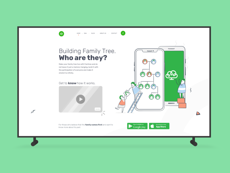 Welcome to Famtree by A l h a s a n   on Dribbble
