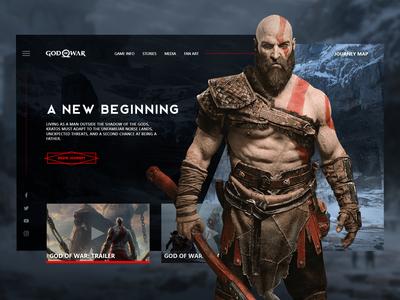 God of War landing page