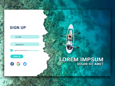 001. Sign Up project daily challange challange sign up daily ui 001 daily ui
