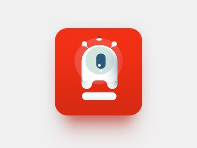 Concept for an icon of an application flat red alfabank sweet icon