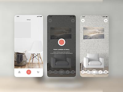 AR Photo - Mobile App canvas wall art canvas photo ar minimal icon app typography ux branding ui design