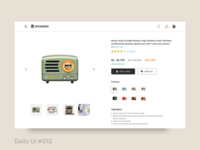 Daily UI  #012   E-commerce Shop