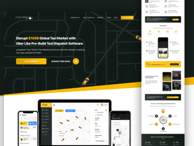 Taxi App Solution Landing Page