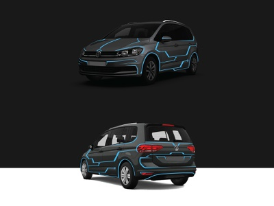 VW TOURAN WRAP graphic  design wrap design