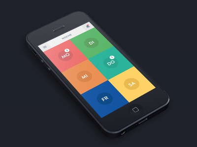 iPhone App UI ui ios iphone app mockup colorful photoshop illustrator