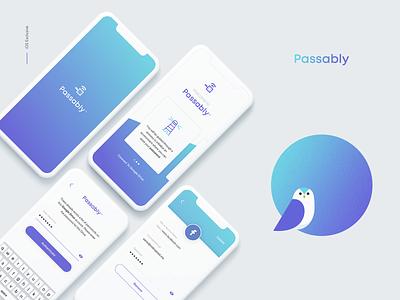 Passably - Password App password manager design illustration branding app ux ui