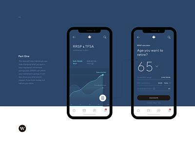 Canada Revenue Agency (CRA) canada branding minimal app ui ux design