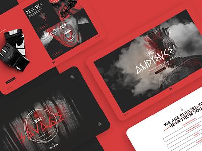 Media Kit Microsite horror heavymetal heavy metal website design typography illustration branding design