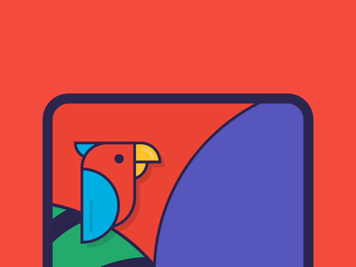 Sonometer for Macaw (App) parrot bird bird icon macaw vector flinto illustration app ui ux animation design