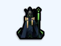 Dota 2 - My Turn Now - Sticker character game wizard vector illustration rubick sticker dota2 dota