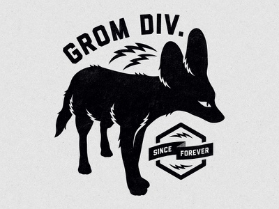 Grom Division deonic grom division fox tshirt clothing apparel silhouette print illustration bolt