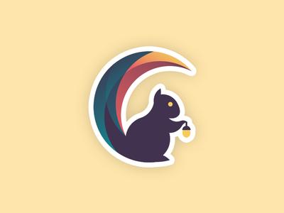Crescentyr Logo game crescent moon squirrel animal icon logo