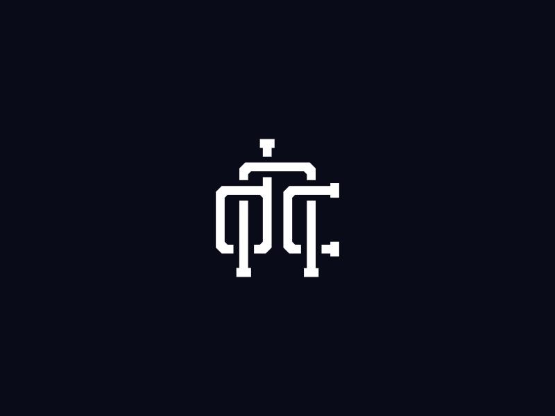 Deonic Logo monogram minimalist branding vector lettering typography logo