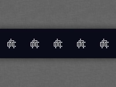 Deonic Logo Tape vector branding monogram minimalist lettering typography logo