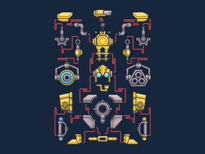 Dota 2 - Suit Up! dota 2 game robot vector tinker tee t-shirt dota deonic