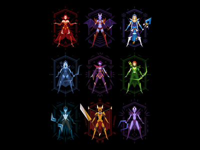 Dota 2 - Superheroines vector female girl heroines illustration t-shirt game dota 2 dota