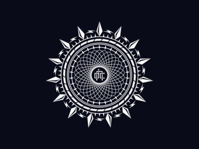 Twitter Header branding spike ornaments circle bolt logo mandala vector
