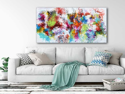 New painting on canvas - Fusion I artwork artist interior design design art design art design art painting paintings