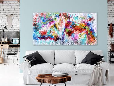 New painting - Fusion III - 70x140 cm artwork artist design art art design art