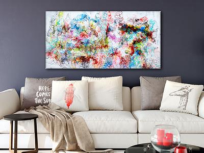 New painting - Fusion IV - 70x140 cm artwork artist design art art design art