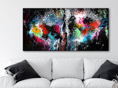 Canvas print Lights I 70x140 cm artwork artist art design art canvas wall art canvas print canvas art canvasart