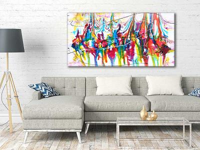Canvas print Heroic I 70x140 cm artwork artist art design art canvas wall art canvas print canvas art canvasart