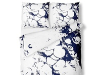 Bed linen 6624 - minimalistic design for bed linen in dark blue