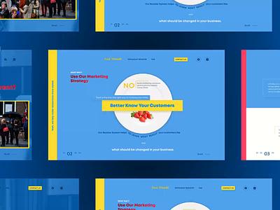 Marketing Agency. Website concept restaurant marketing agency marketing blue bright design animation blue and white web design web ui  ux uiux