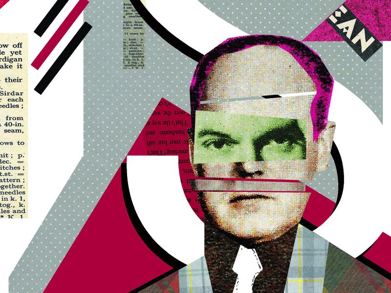 Portrait graphic rodchenkod portrait collage flat illustration design