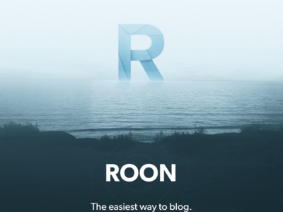 Roon Homepage roon blogging website homepage water