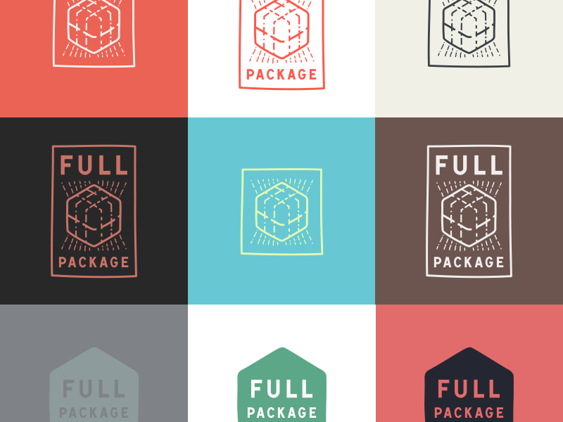 Full Package Identity package box brand logo hand-drawn
