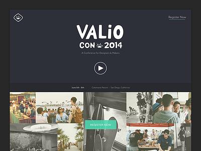 Valio Con 2014 Full Site valio con conference website homepage
