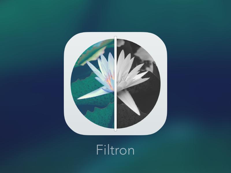 Filtron iOS Icon icon app photo filters ios