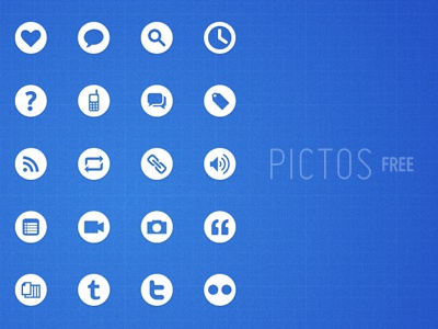 Pictos Free pictograms icons user interface design website free