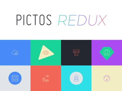 Pictos Redux has launched! pictos icons vector illustration