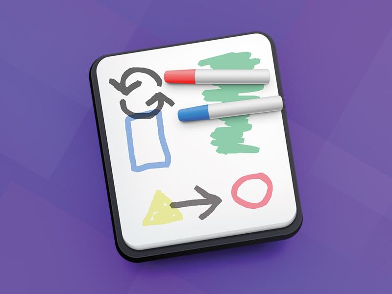 Whiteboard Icon doodle marker whiteboard icon mac