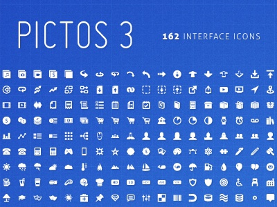 Pictos 3 HAS LAUNCHED! pictos icons user interface design website