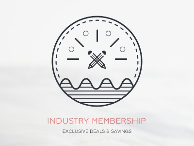 Industry Membership badge emblem icon deal