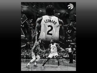 "Toronto Raptors ""Kawhi vs. Steph"" Poster"