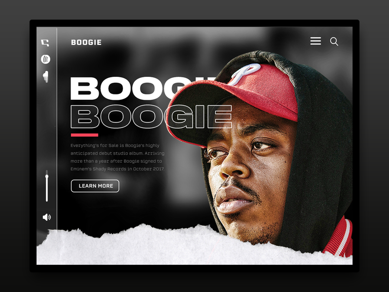Boogie branding compton musician music webdesign graphicdesign hiphop rapper boogie